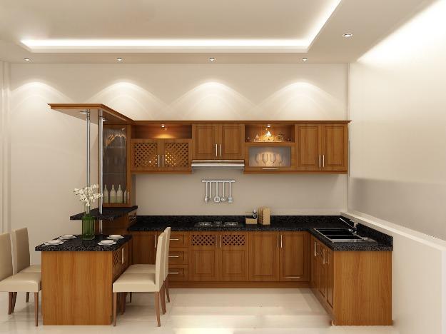 1355047720 463532406 4 T bep go dp Can ban1 Gợi ý các kiểu tủ bếp gỗ sồi mỹ nhập khẩu