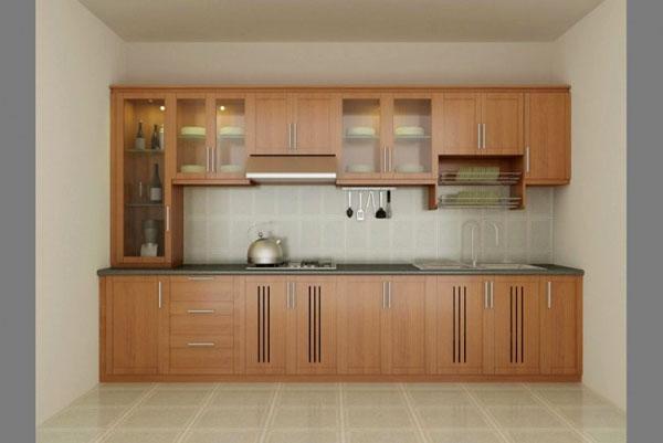 Mẫu tủ bếp gỗ xoan đào yêu thích năm 2014