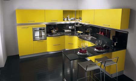 Tủ bếp gỗ ép laminate công nghiệp sang trọng tiện nghi