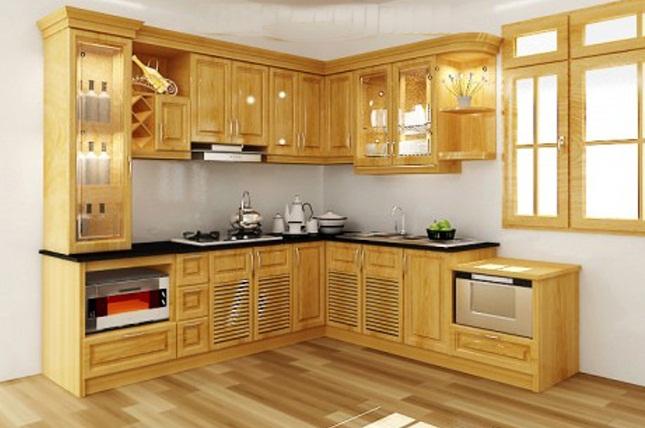 Tủ bếp gỗ sồi Nga được ưa thích nhất