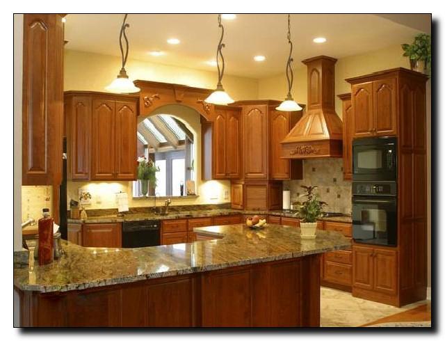 Thiết kế tủ bếp gỗ xoan đào kiểu hình chữ G