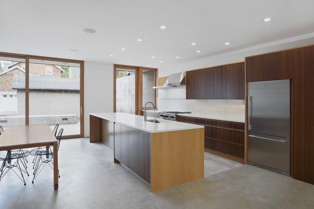 Mẫu tủ bếp Laminate cao cấp cho gian bếp hiện đại