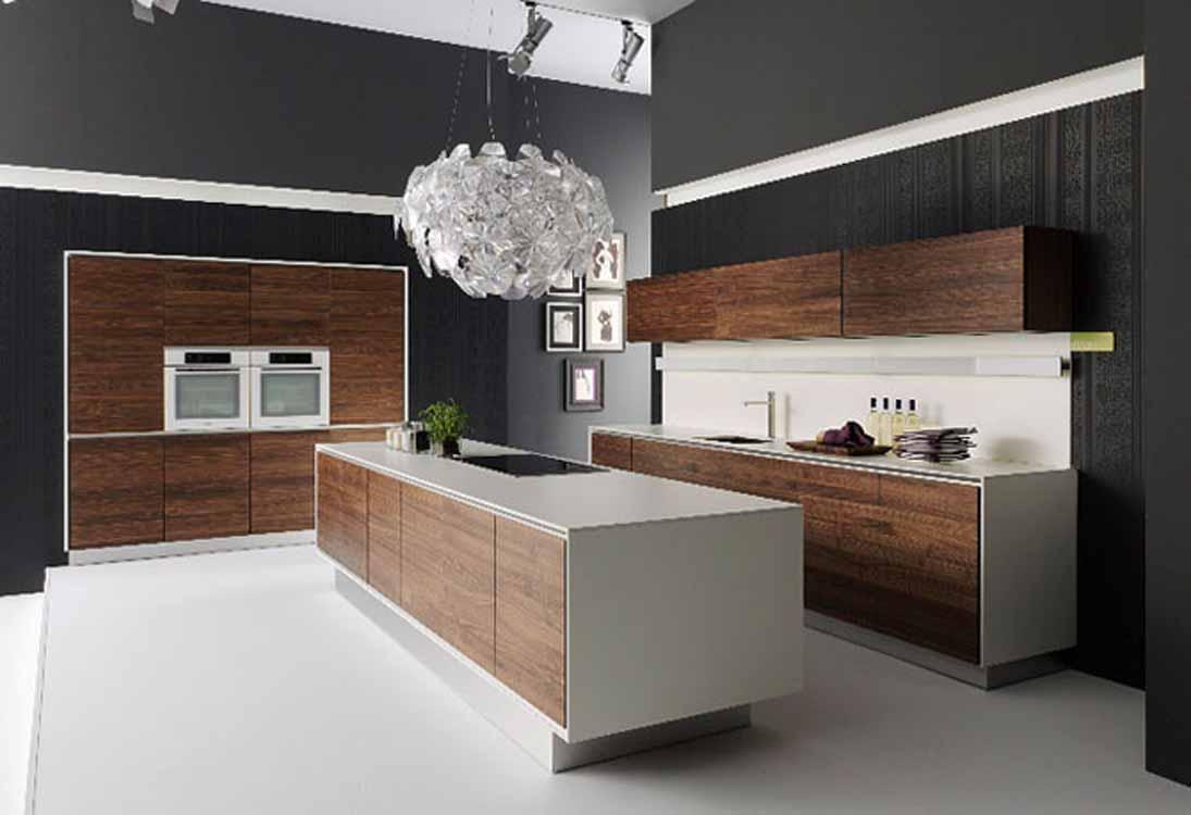 Mẫu tủ bếp Laminate sang trọng cho chung cư cao cấp