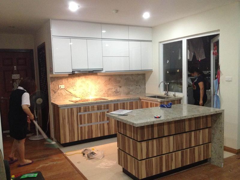 Hoàn thiện công trình tủ bếp nhà chị Trang