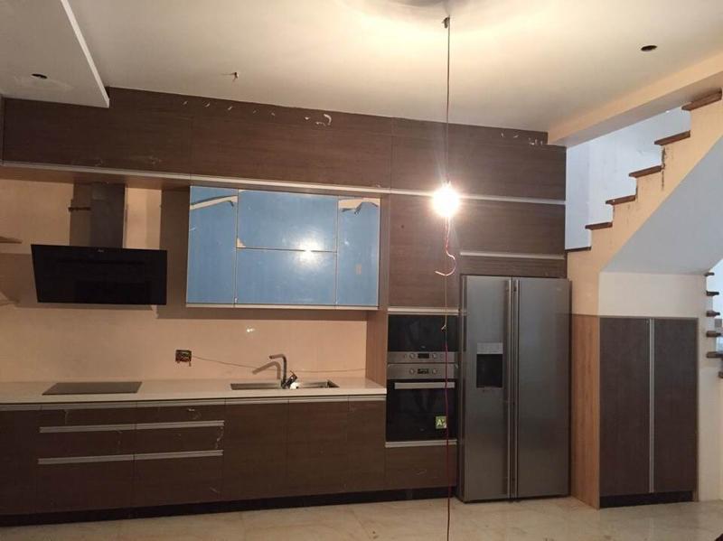 Hoàn thiện công trình tủ bếp nhà a Toàn