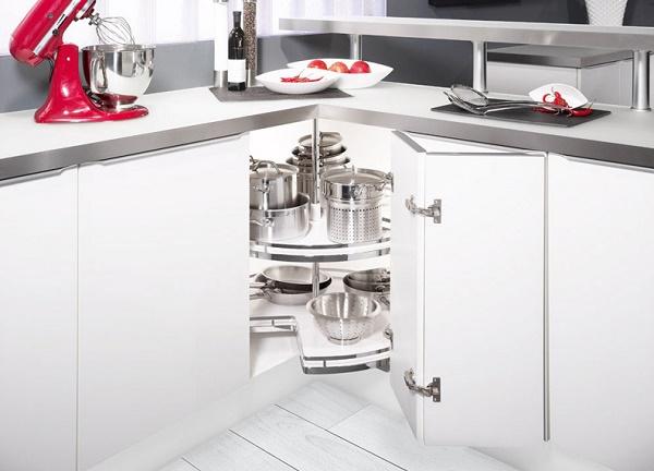 Báo giá phụ kiện Kesseboehmer cho góc tủ bếp 3/4-270 độ