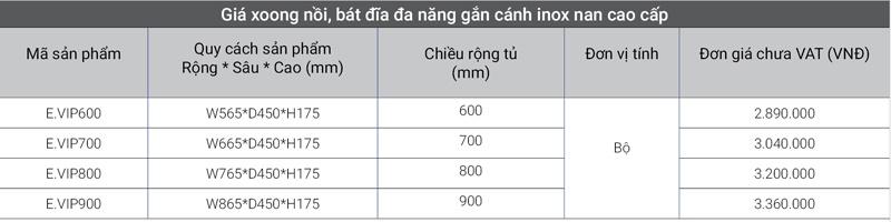 Giá đa năng gắn cánh inox nan cao cấp EuroGold