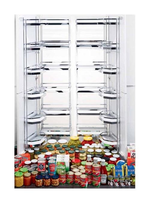 Hệ giá kho 6 tầng cho tủ bếp đứng Hafele nhập khẩu