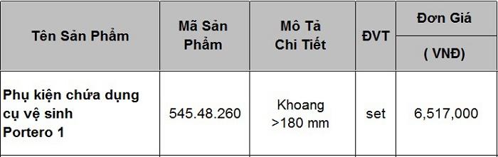 Phụ kiện chứa dụng cụ vệ sinh 545.48.260 Hafele