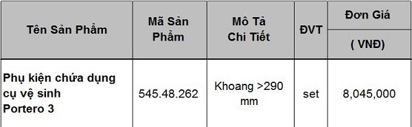 Phụ kiện chứa dụng cụ vệ sinh Hafele 545.48.262 chính hãng