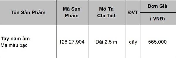 Tay nắm âm mạ màu bạc Hafele 126.27.904