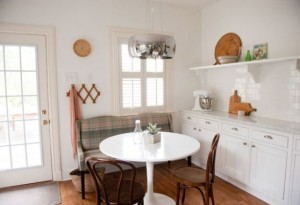 mẫu bàn ăn tròn, nội thất nhà bếp cho không gian nhỏ