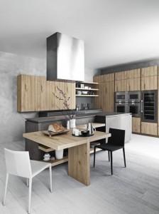mẫu nội thất nhà bếp bằng gỗ
