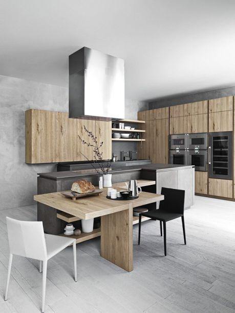 Mẫu nội thất nhà bếp đẹp và tiện nghi bằng gỗ