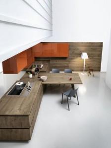 mẫu nhà bếp đẹp với nội thất gỗ