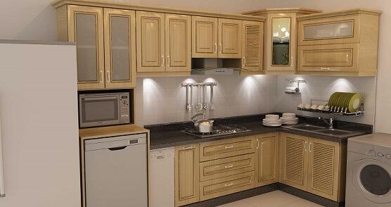 Các loại gỗ tự nhiên thường dùng để làm tủ bếp sồi