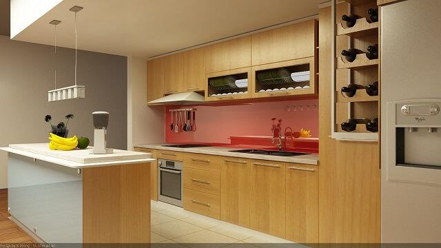 làm tủ bếp bằng gỗ công nghiệp có tốt không 1