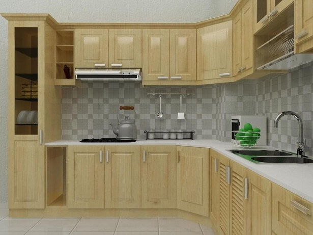 Nên đóng tủ bếp gỗ công nghiệp hay gỗ tự nhiên 3