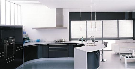 cách sử dụng 2 màu trắng đen để trang trí nhà bếp