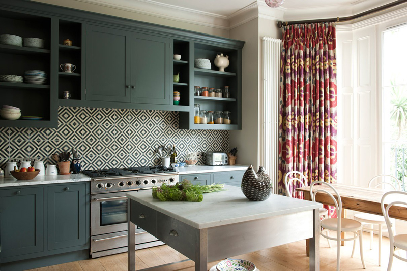 trang trí căn bếp hiện đại bằng họa tiết