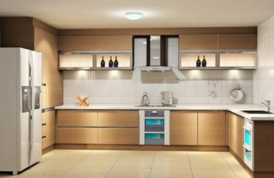 Tủ bếp hình chữ U được ưa chuộng bởi những người sống trong các căn hộ có diện tích nhỏ hẹp