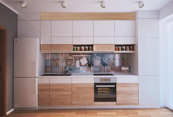 Tủ bếp kịch trần là một giải pháp rất tốt để trang trí bếp thêm đẹp mắt