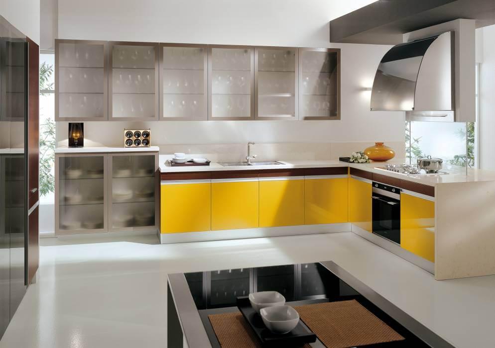 lựa chọn màu sắc cho tủ bếp