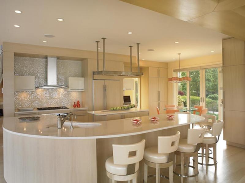 thiết kế quầy bar đẹp cho nhà bếp