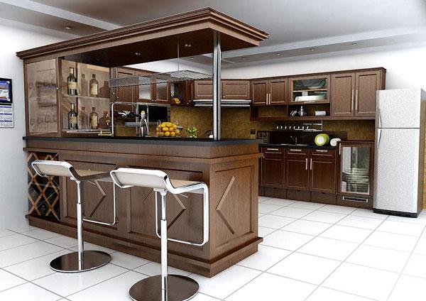 Tư vấn thiết kế quầy bar đẹp cho nhà bếp