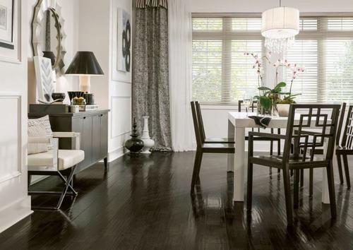 Những mẫu thiết kế phòng ăn đẹp với sàn gỗ