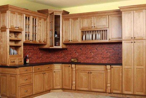 Tủ bếp gỗ tự nhiên loại nào tốt nhất, tủ bếp gỗ sồi nga