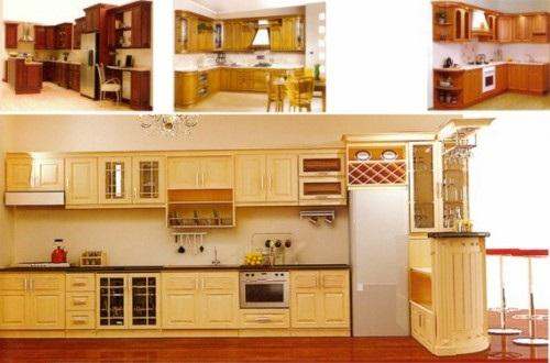 666 b115 Chia sẻ mẫu tủ bếp có quầy bar đẹp bằng gỗ giáng hương