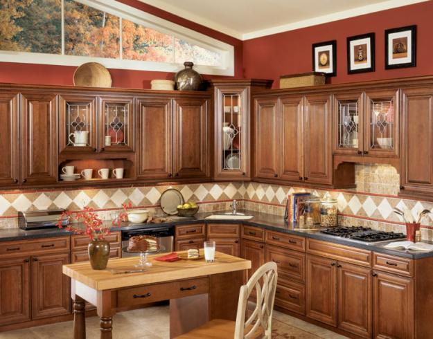 Tu be go soi my dep cho nha chung cu Thiết kế tủ bếp gỗ sồi mỹ đẹp cho nhà chung cư