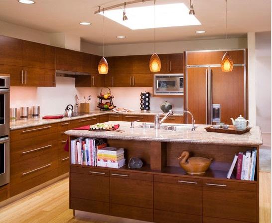 Tu bep Veneer cao capp Chia sẻ mẫu thiết kế tủ bếp gỗ Veneer phong cách cổ điển