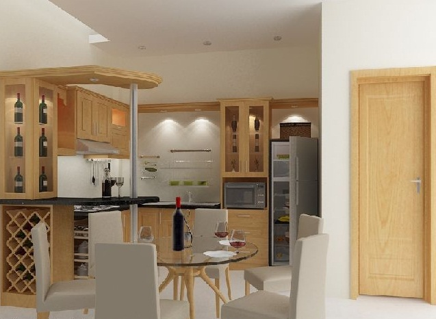 dyt1351002080 Cùng nhìn qua mẫu tủ bếp gỗ giáng hương đẹp cho nhà bếp nhỏ