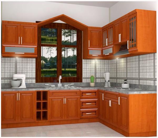 tu bep chu L nho2 Cùng nhìn qua ưu điểm của các kiểu dáng tủ bếp