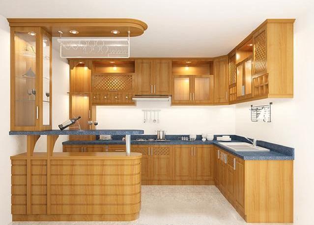tủ bếp với những không gian