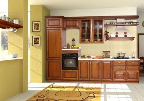 tu bep go giang huong TB012013 470x331 Cùng nhìn qua mẫu tủ bếp gỗ giáng hương đẹp cho nhà bếp nhỏ