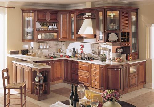 tu bep go giang huong cao cap nha bep cao cap Cùng nhìn qua mẫu tủ bếp gỗ giáng hương đẹp cho nhà bếp nhỏ
