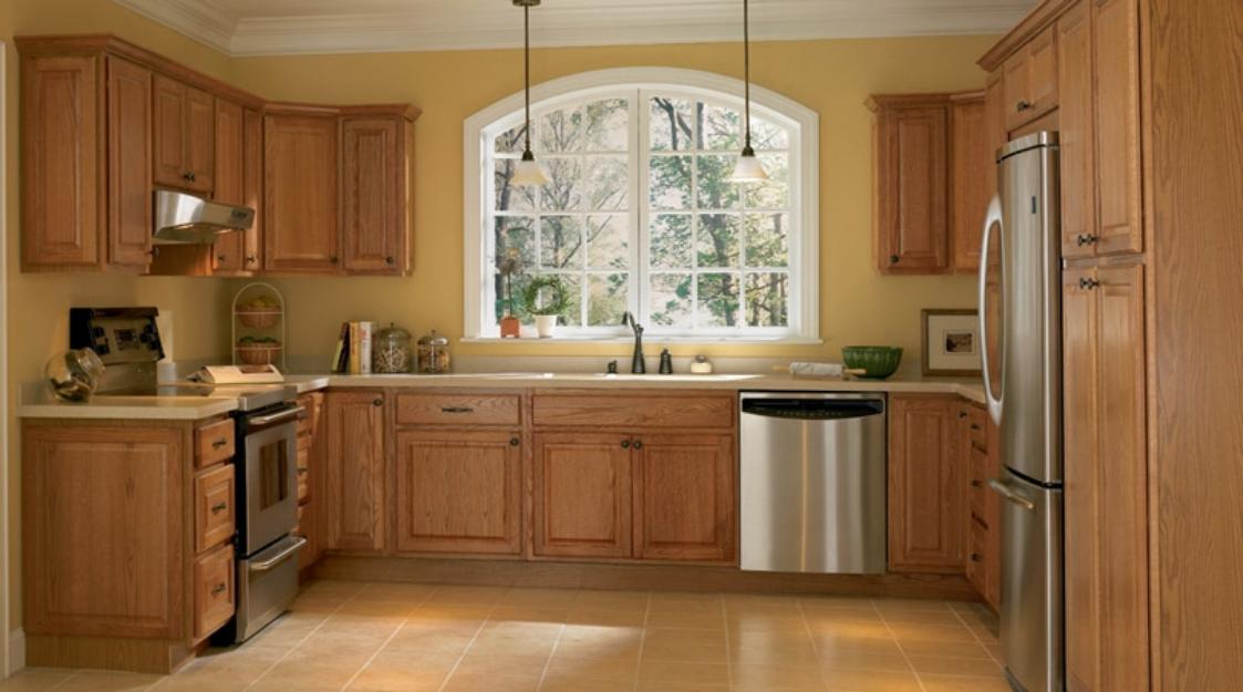 tu bep go soi my dep cho nha chung cu1 Thiết kế tủ bếp gỗ sồi mỹ đẹp cho nhà chung cư