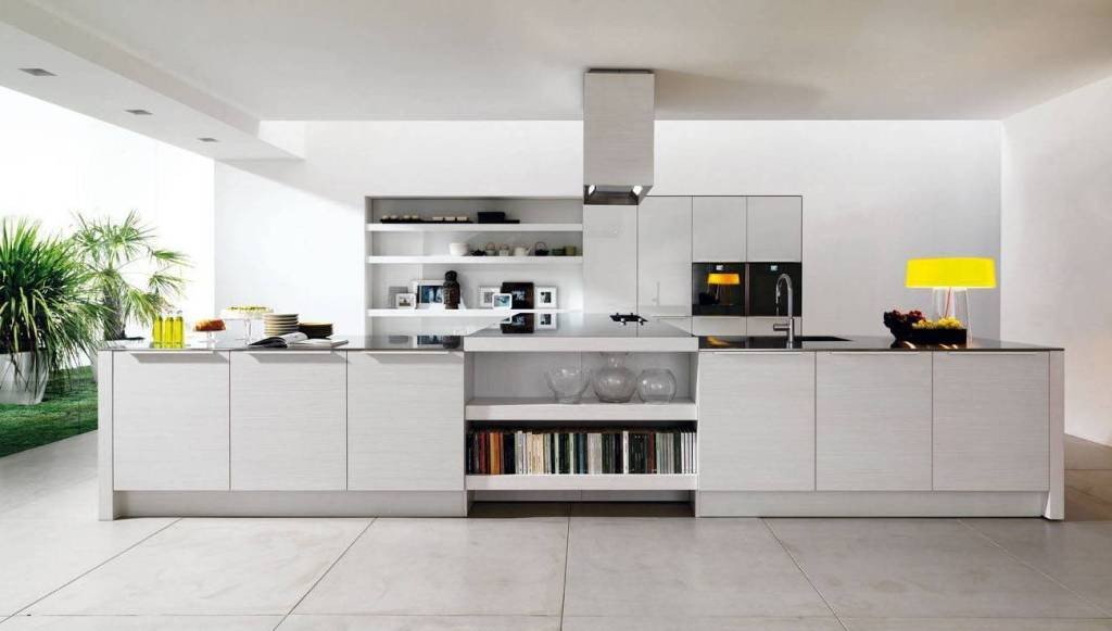 Tủ bếp nhiều ngăn đầy đủ tính năng khi sử dụng